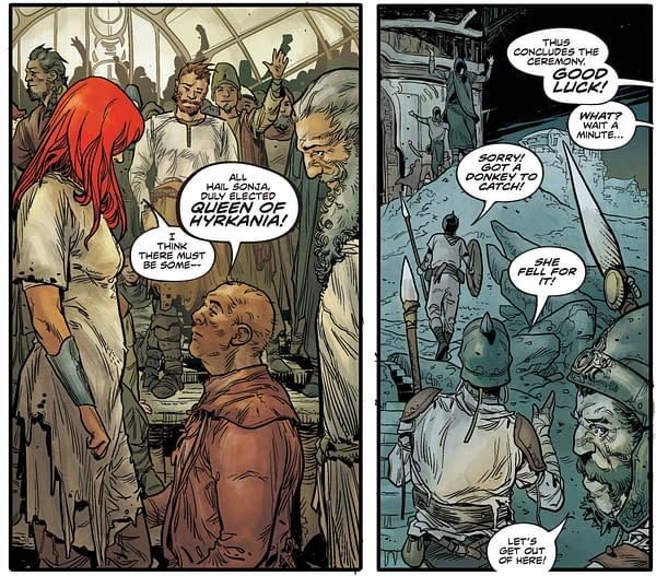 Mark Russell Brings Consumer Doublespeak to Red Sonja