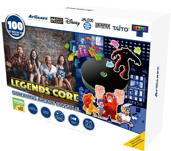 A look at the box for Legends Core, courtesy of AtGames.