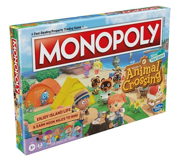 A preview of the box art for Monopoly Animal Crossing: New Horizons Edition, courtesy of Hasbro.