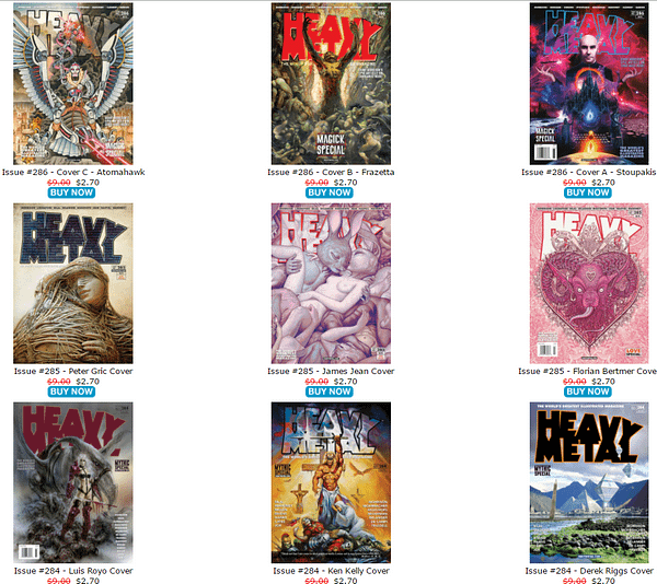 Donny Cates, Jack Kirby And Grant Morrison – The Biggest Bargains In The Heavy Metal Magazine Sale, Ending in 24 Hours