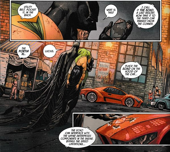 The Brand New Batmobile – There's An App For That – in Batman #88 (Spoilers)