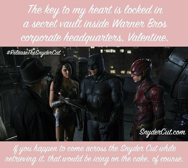 """This Valentine's Day, Say """"I Love You"""" With the Snyder Cut of Justice League"""