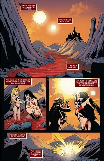 Amy Chu's Writer's Commentary on Red Sonja & Vampirella Meet Betty & Veronica #7