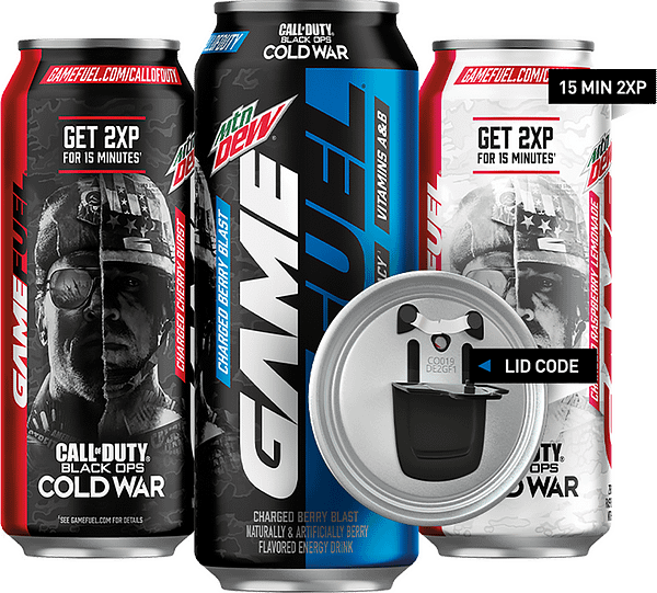 Call Of Duty: Black Ops Cold War branding on products, courtesy of PepsiCo.