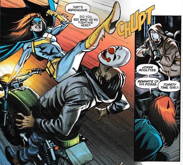 Mopping Up Joker War Clowns With Batgirl, Nightwing and Clownhunter