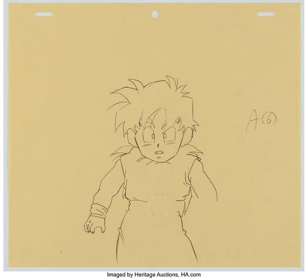 Dragon Ball Z Gohan Layout Drawing (Toei Animation, c. 1989-96). Credit: Heritage Auctions