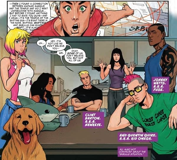Has Kate Bishop Become a Skrull Apologist? West Coast Avengers #8