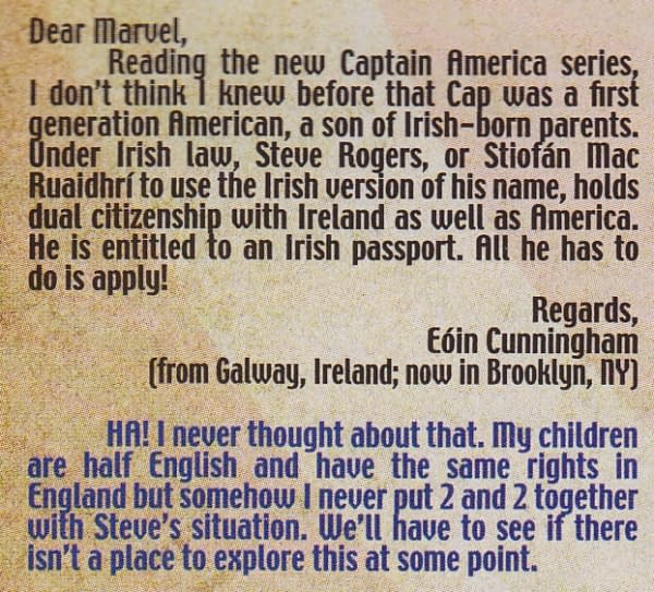 Could Steve Rogers Be… Captain Ireland?