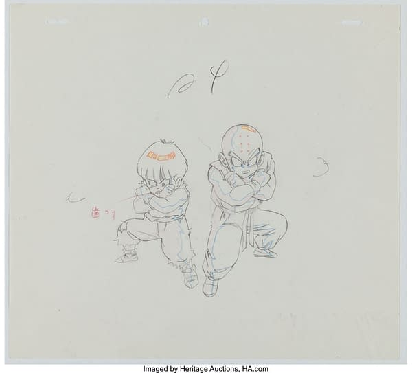 Gohan and Krillin Animation Drawing (Toei Animation, c. 1989-96). Credit: Heritage Auctions