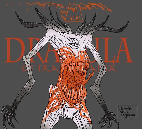 Ricardo Delgado Illustrates Bram Stoker's Dracula Anew