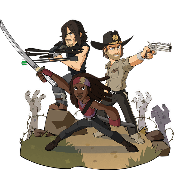 Michonne, Rick Grimes, and Daryl Dixon all join the fray, courtesy of Ubisoft.
