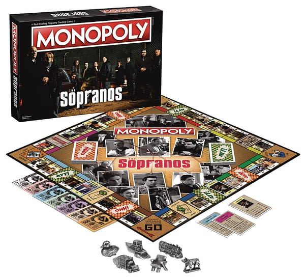 A look at the full setup of Monopoly: The Sopranos, courtesy of The Op.