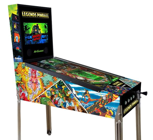 A look at a Legends Arcade pinball machine, courtesy of AtGames.
