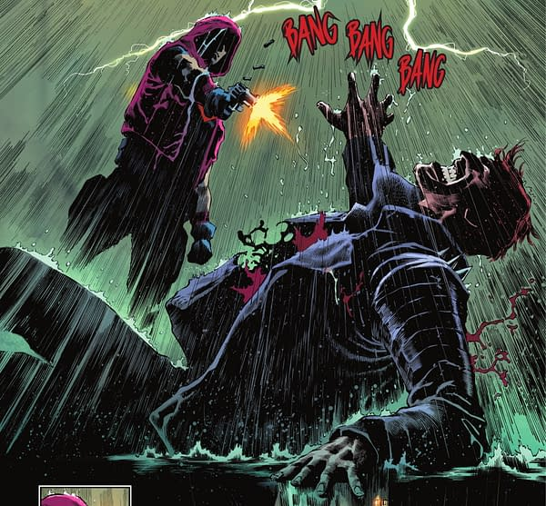 Jason Todd, Red Hood, Crosses The Line in Batman: Urban Legends #1