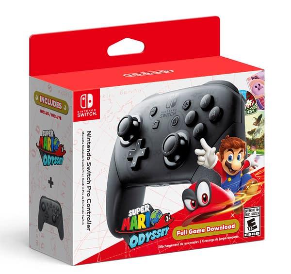 A look at the Super Mario Odyssey Pro Controller Bundle, courtesy of Nintendo.