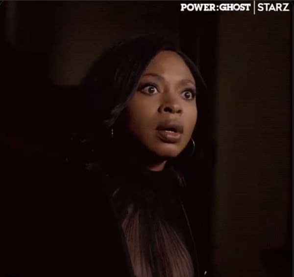 Power Book II: Ghost season finale included the return of a very familiar face. (Image: STARZ screencap)