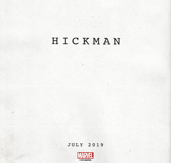 Confirmed: Jonathan Hickman's New Marvel Comic Begins in July
