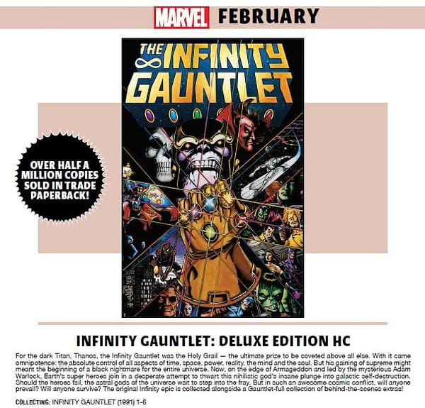 Marvel Has Sold Half a Million Infinity Gauntlet Trade Collections