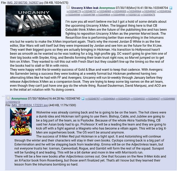 Scotching Those X-Men 4Chan Rumours – And Telling You What Is Really Going On