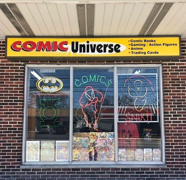 Front of Comic Universe comic shop