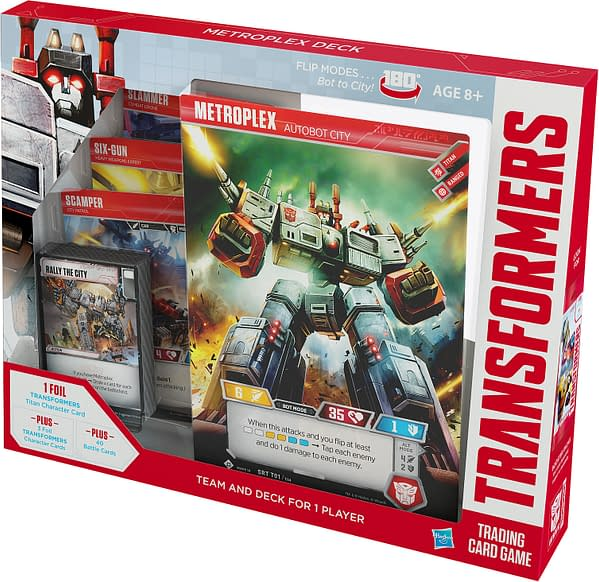Transformers TCG Gates a New Addition With the Metroplex Deck