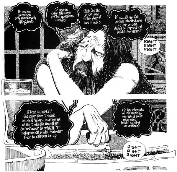 Dave Sim Goes Full Alan Moore Parody For Latest Cerebus In Hell.