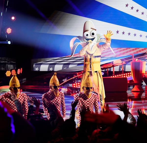 The Banana performs on The Masked Singer, courtesy of FOX.