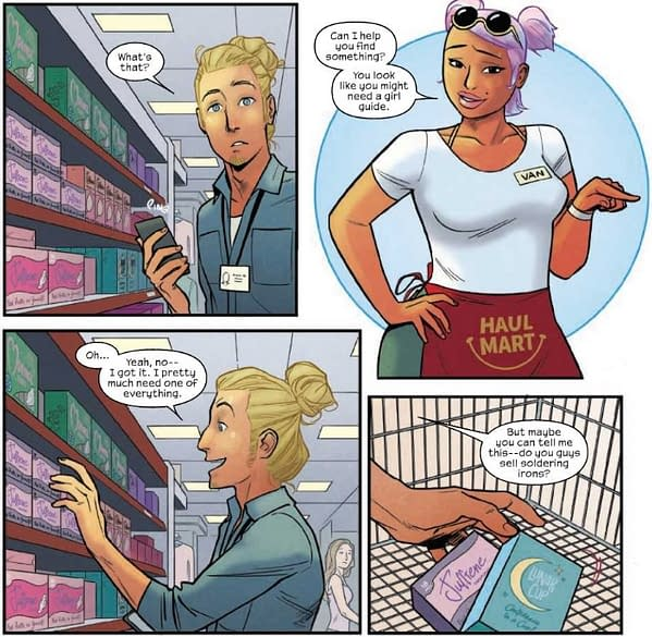 Love in the Tampon Aisle in Runaways #21