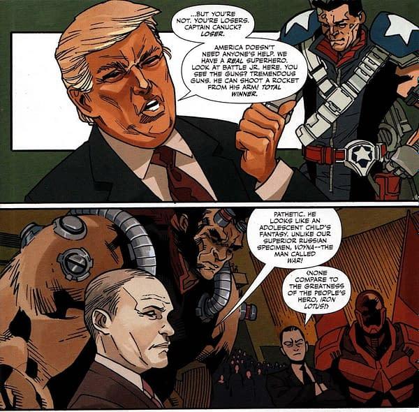 It Was Donald Trump vs. Justin Trudeau on Free Comic Book Day