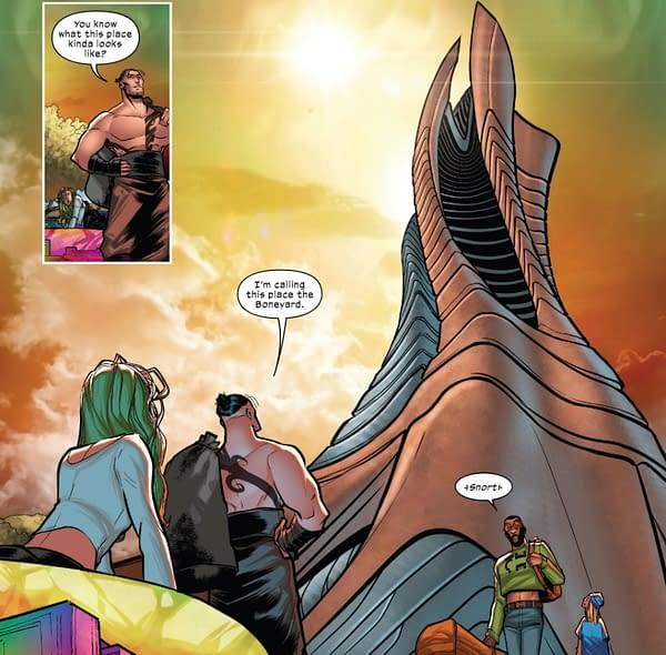 A scene from X-Factor #1