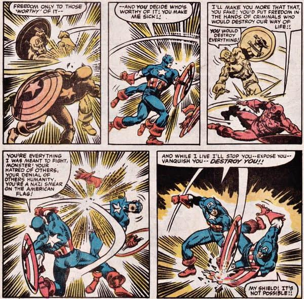"Woke Marvel Has Captain America Call USA ""A Piece Of Trash"""