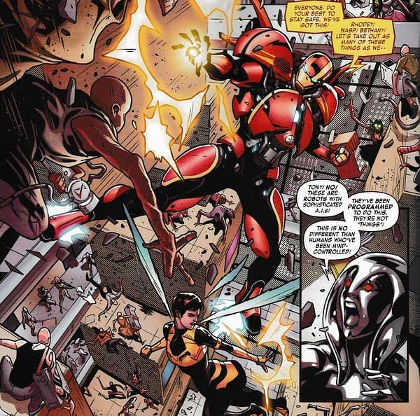 Tony Stark: Iron Man #4 – It's Not Okay To Shoot Them, They're Robots (Spoilers)