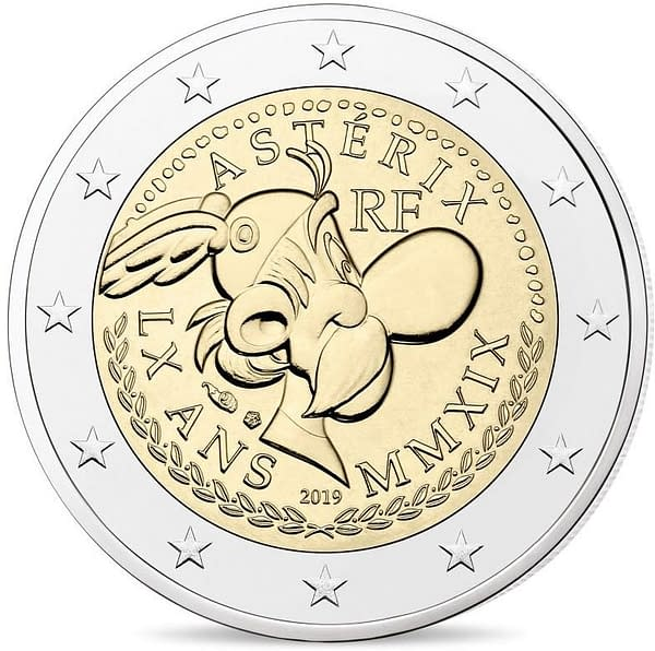 Asterix on the New Two-Euro Coin