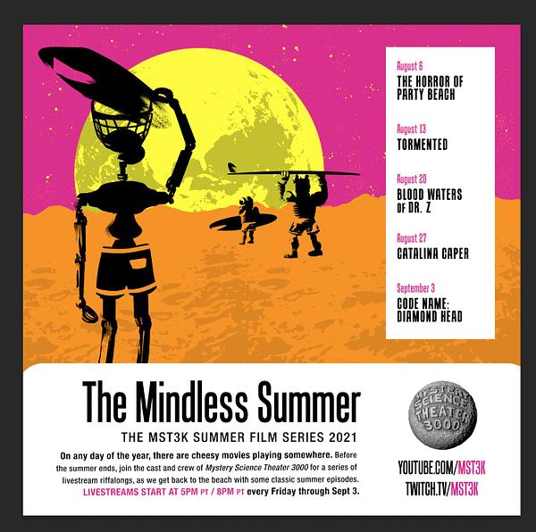 MST3K: Mindless Summer Film Series Streams Through September 3rd