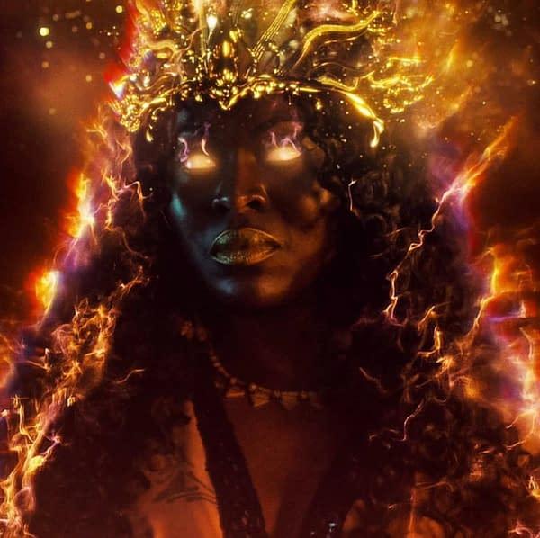 American Gods star Yetide Badaki takes viewers on a tour of the set (Image: STARZ)
