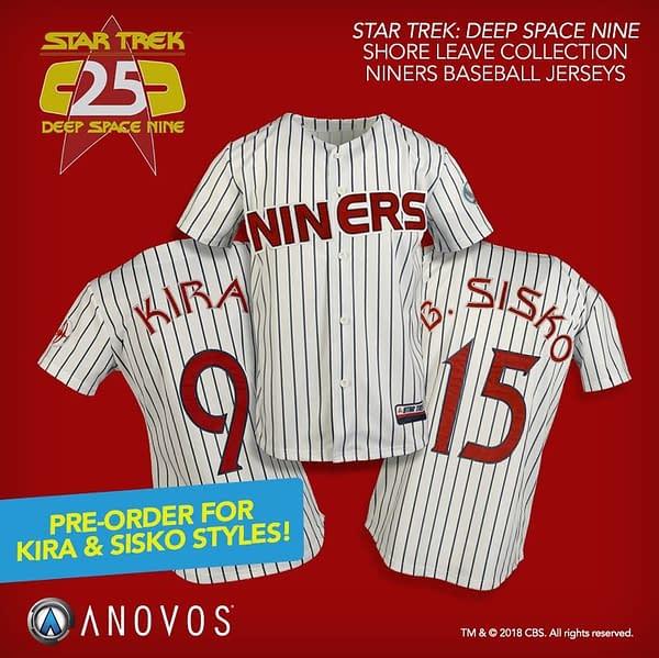 Anovos Announces Star Trek: DS9 Baseball Jersey Pre-Orders