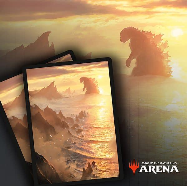 Godzilla Lands island sleeve