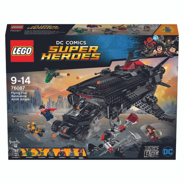 Justice League LEGO Flying Fox Batmobile Airlift Attack