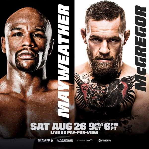 Mayweather Beats McGregor In The 10th