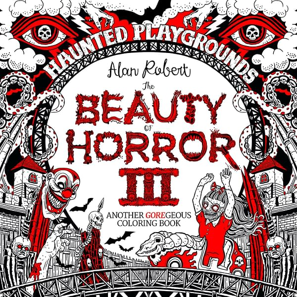 IDW Announces 3rd 'Beauty Of Horror' Coloring Book From Life Of Agony Bassist For 2018