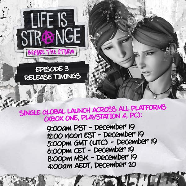 Here Are the Release Times for Life is Strange: Before the Storm Episode 3