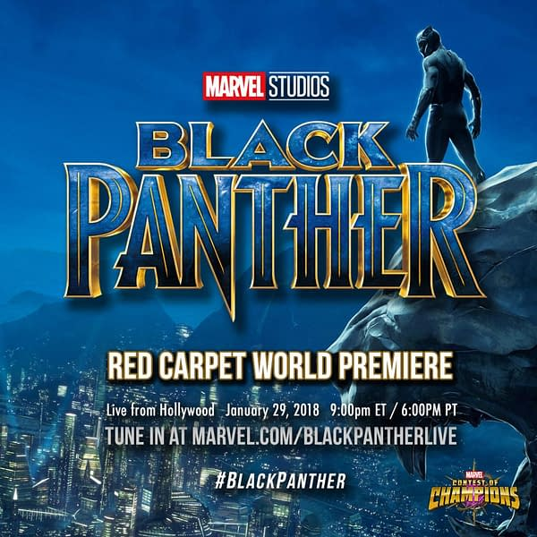 Chadwick Boseman Arrives at Black Panther Premiere In T'Challa Style