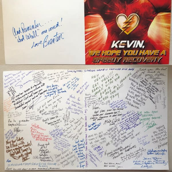 The Casts of Supergirl and Flash Wish Kevin Smith a Speedy Recovery