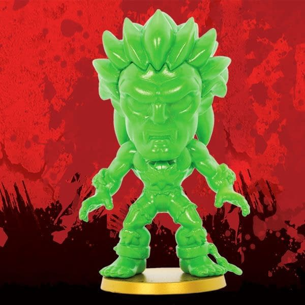 Cryptozoic Metallic Green Blanka Street Fighter Lil Knockouts Vinyl Figure