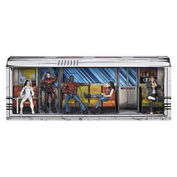 MARVEL LEGENDS SERIES DEFENDERS RAIL AUTHORITY 5-PACK - in pkg1