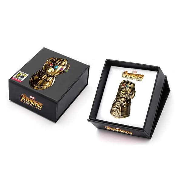 Thanos Infinity Gauntlet Pin SDCC