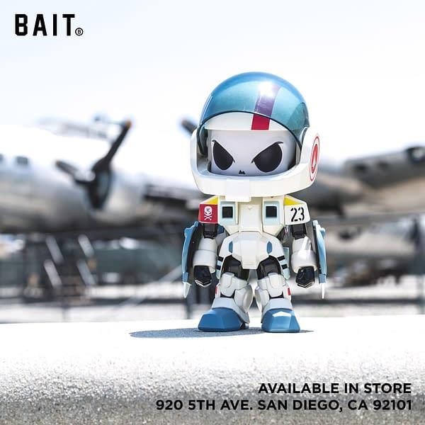 Bait SDCC Exclusive Huck Gee Robotech Hunter Figure Beige Figure