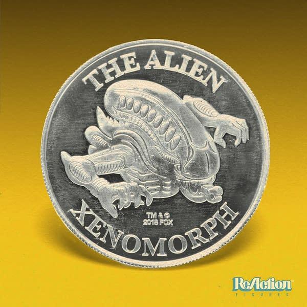 Super7 Alien ReAction Figure Hammerhead Tribute Figure Coin