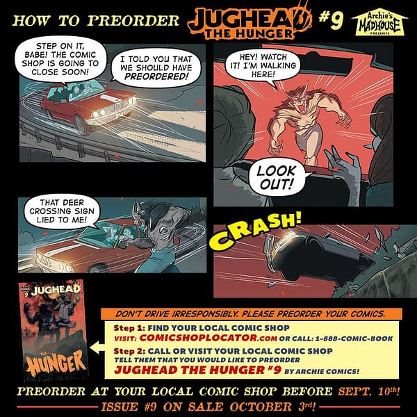 Could You Die Because You Didn't Pre-Order a Comic Book? Jughead: The Hunger #9