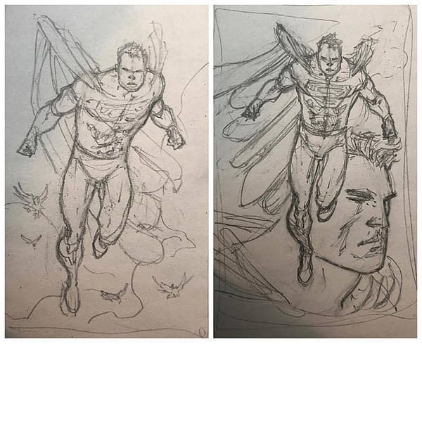 Rob Liefeld Drawing Superman?